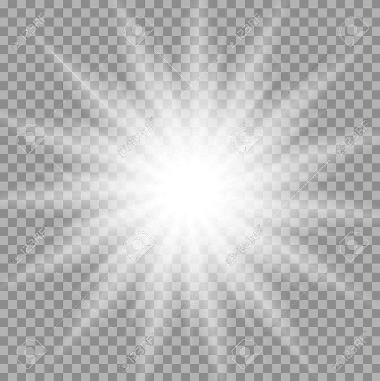 White Iridescent Light Effect Star Design. Shiny Transparent ... for Light Effects White Background  300lyp