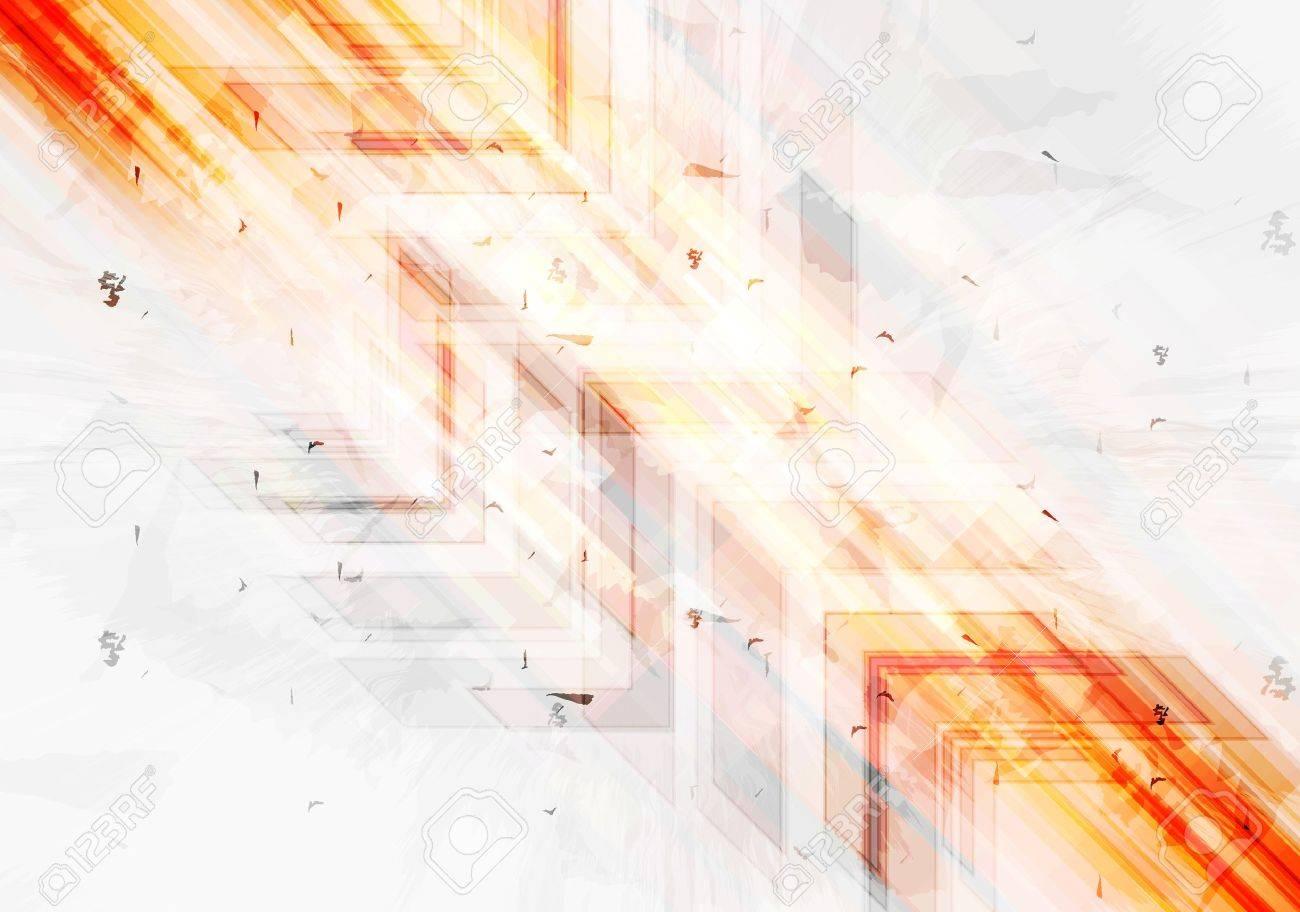 grunge orange tech background with arrows. vector grunge style