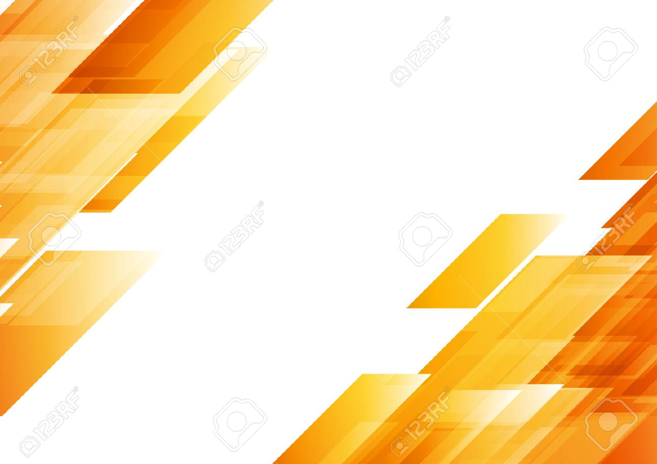 Hi-tech orange shapes abstract background. Vector graphic geometric design - 60694142