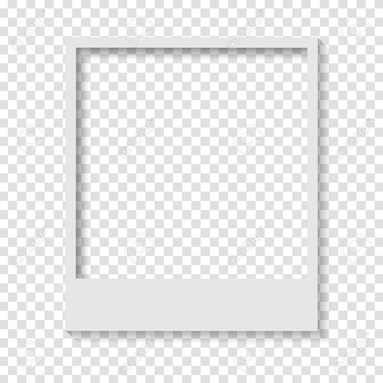 Blank Transparent Paper Polaroid Photo Frame Vector Design Stock