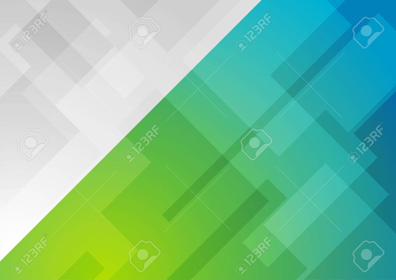 Abstract blue green minimal geometric background. Technology vector design - 64334412