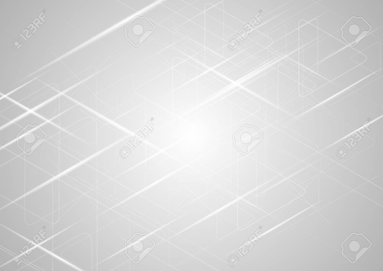 Abstract light grey gradient shiny background. Vector design - 66079026