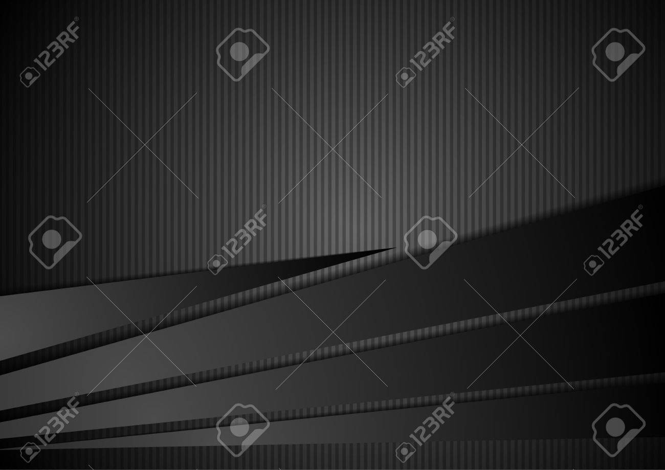 Abstract black striped corporate background. Vector design illustration - 66079102