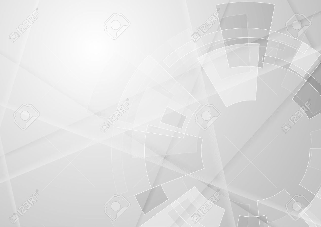 Grey geometric technology background with gear shape. Vector abstract graphic design - 66409413