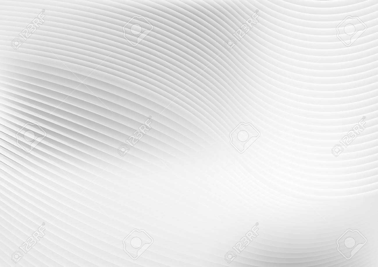 Abstract grey white waves and lines pattern. Vector futuristic template background - 69249668