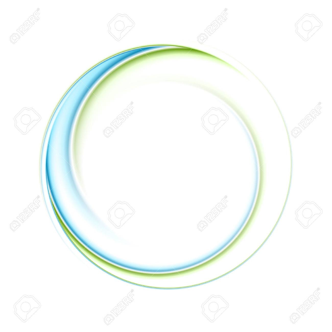 Abstract bright blue green iridescent circle logo. Vector graphic background - 71141970