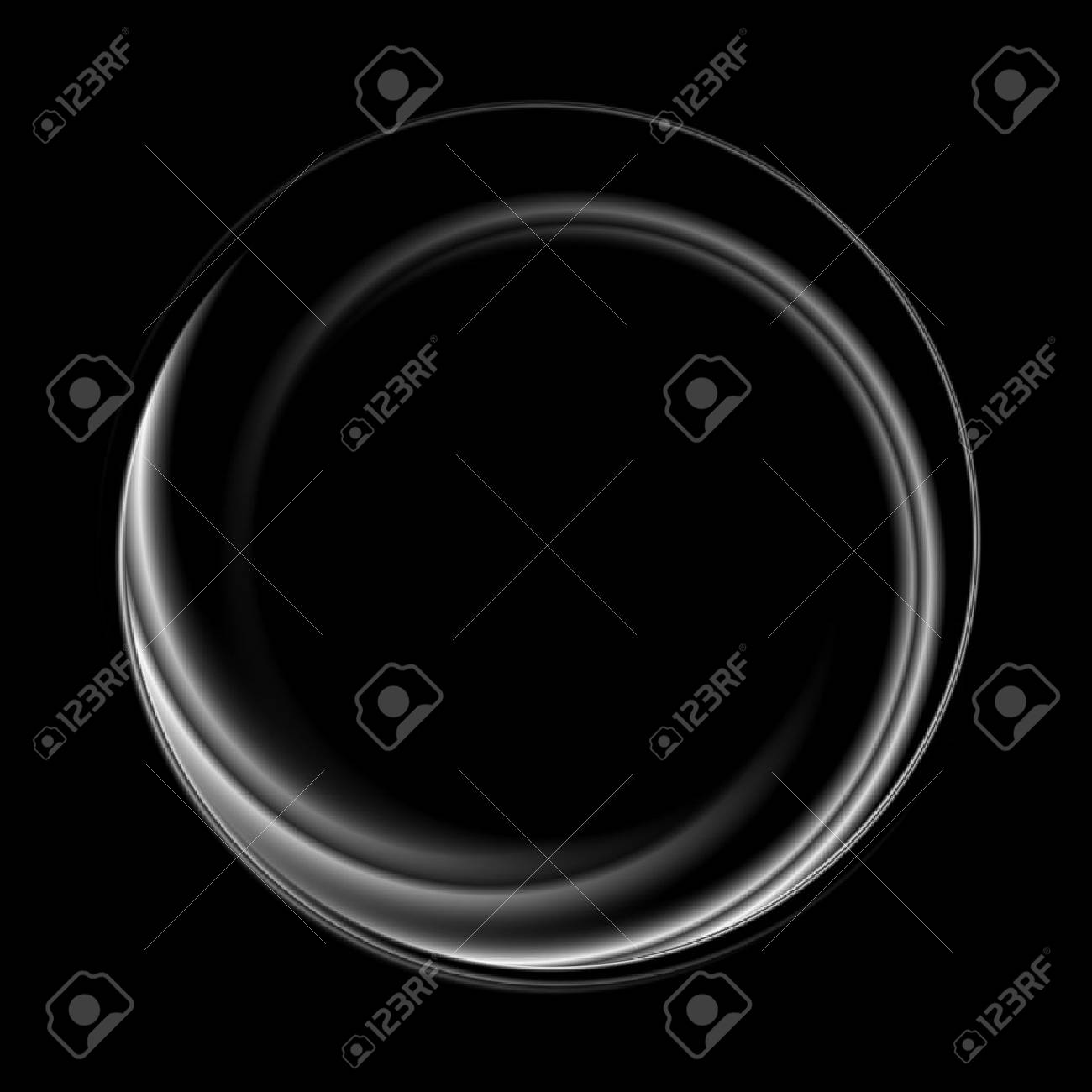 Abstract monochrome black white circle logo. Vector graphic background - 71141971