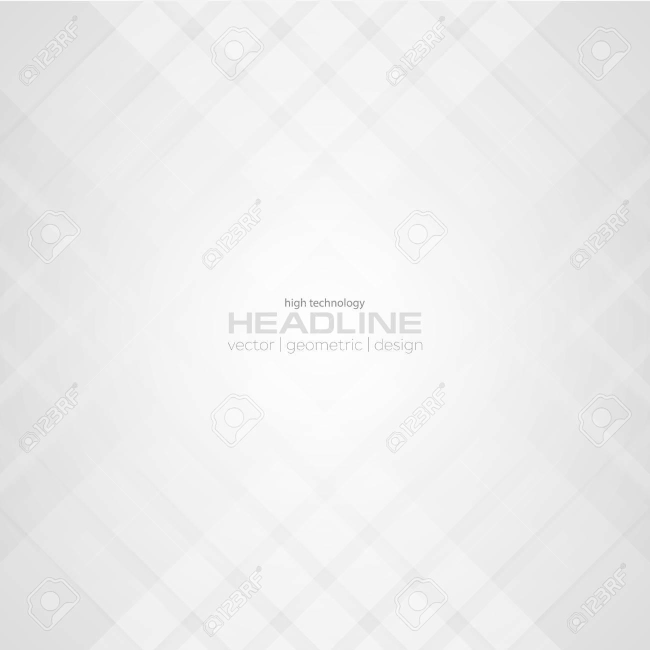 Abstract light grey tech pattern background. Vector geometric design - 71454008