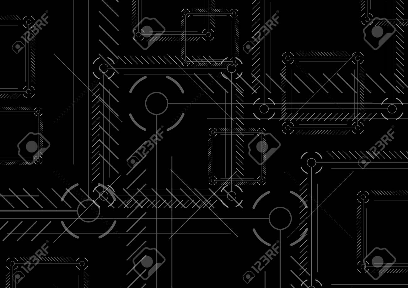 Sci Fi Abstract Black Technology Squares Background Dark Modern Royalty Free Cliparts Vectors And Stock Illustration Image 81572552