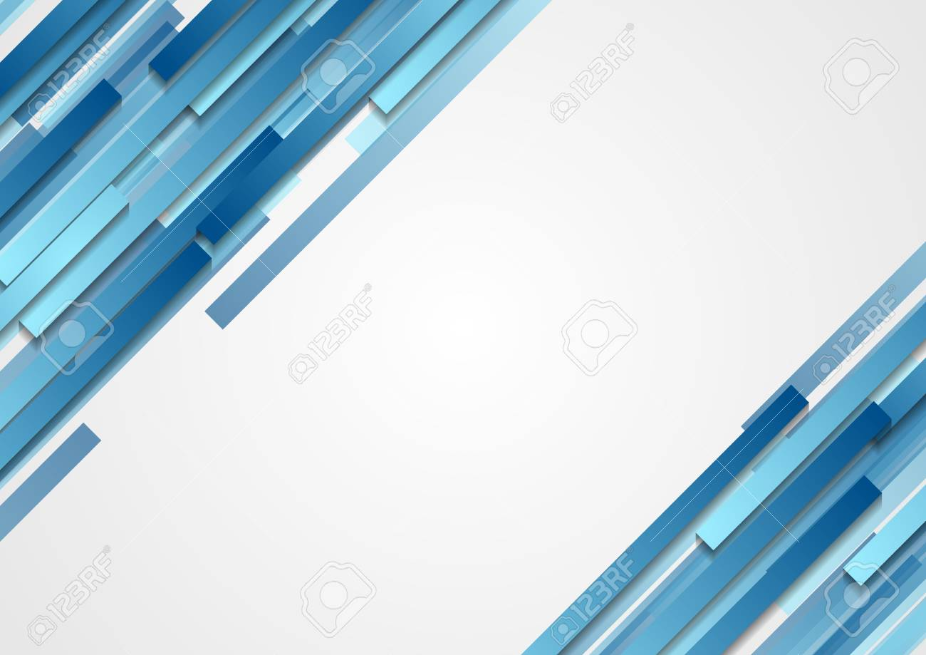 blue geometric abstract tech diagonal stripes background. vector