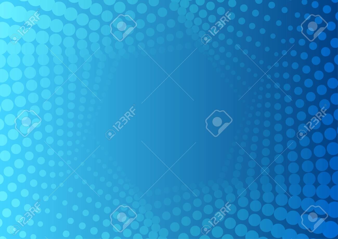 Abstract bright blue geometric halftone hexagonal pattern. Vector tech modern background - 130397214