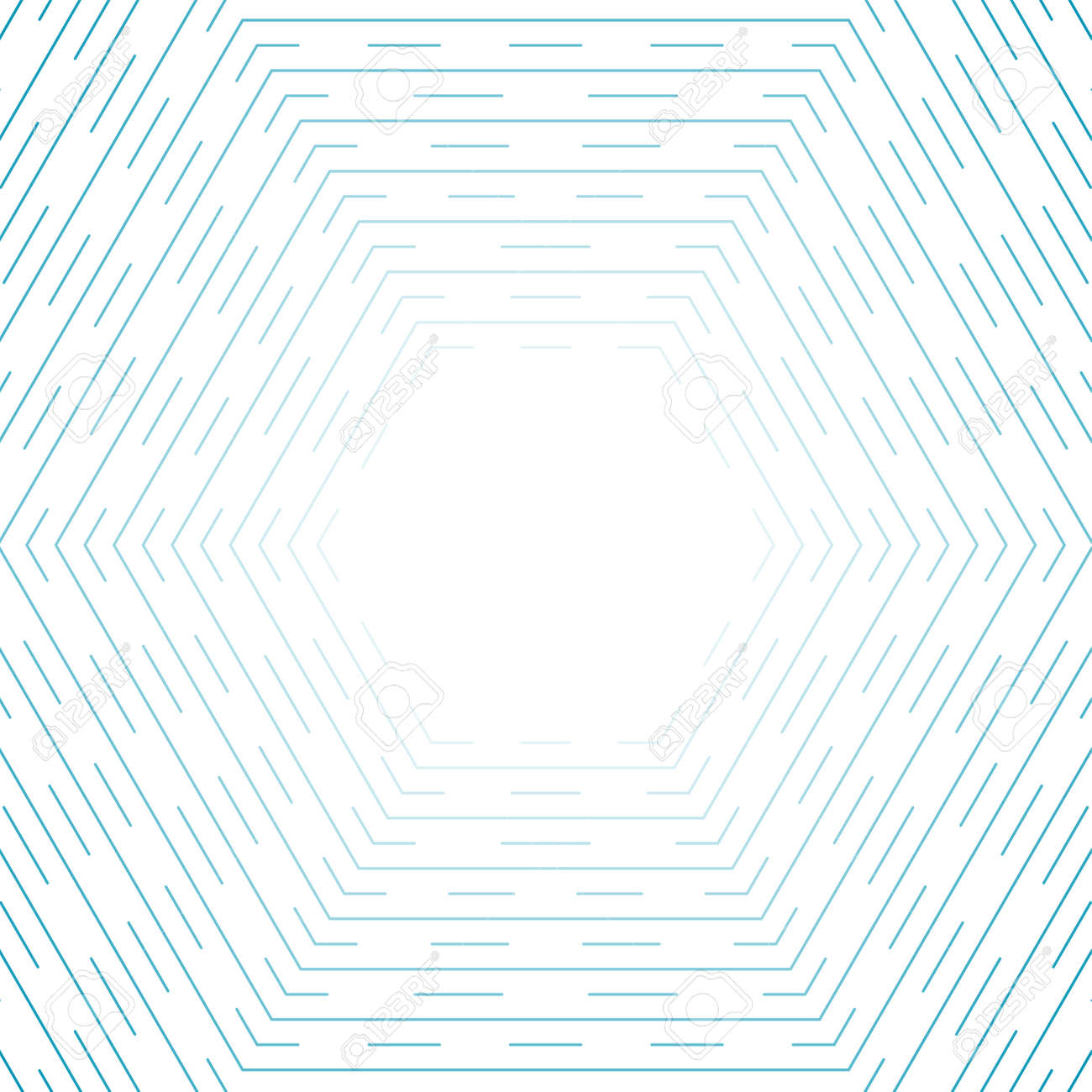 Blue hexagonal lines abstract futuristic technology background. Vector design - 169078066