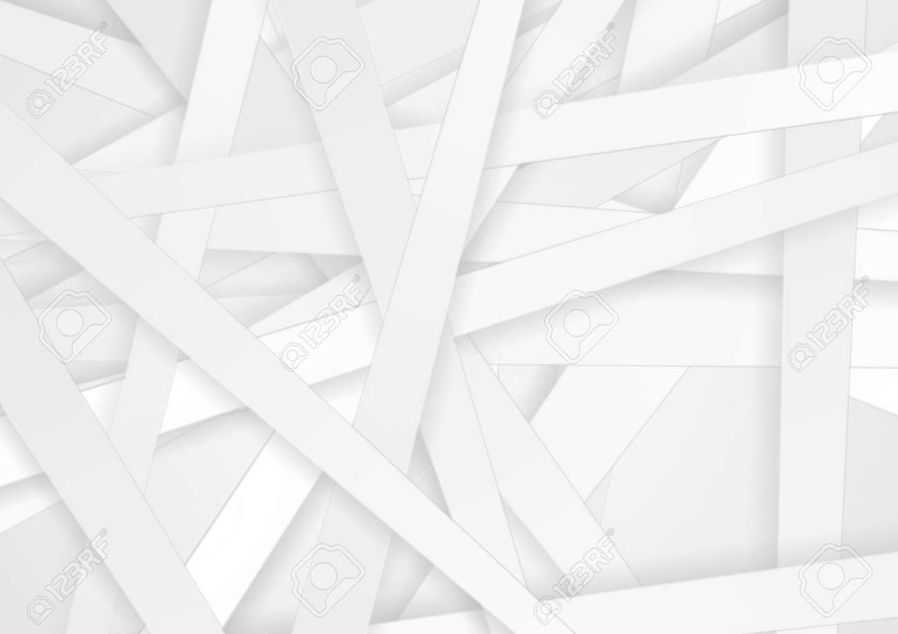 White paper stripes abstract minimal background. Vector design - 169078211