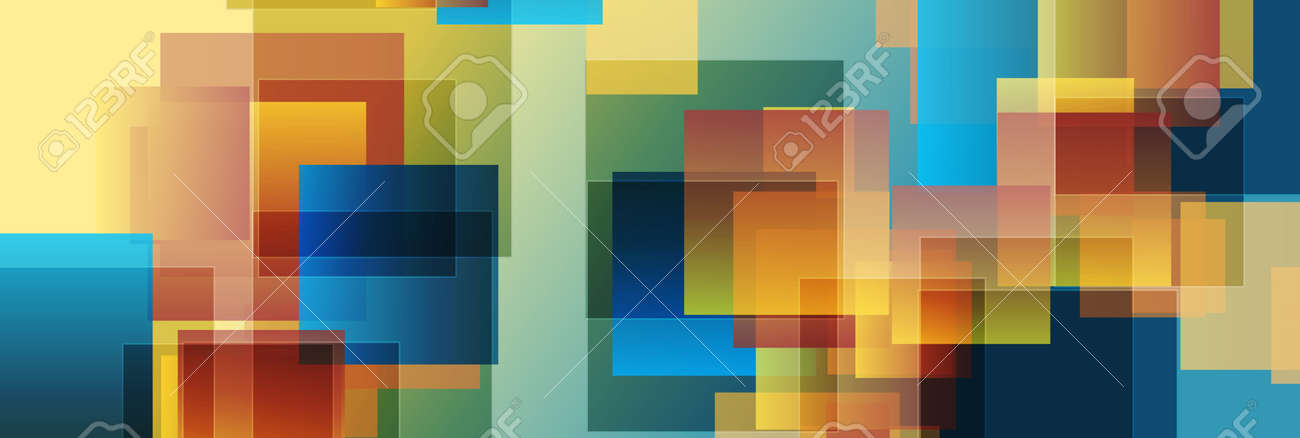 Colorful glossy squares abstract technology - 169500849