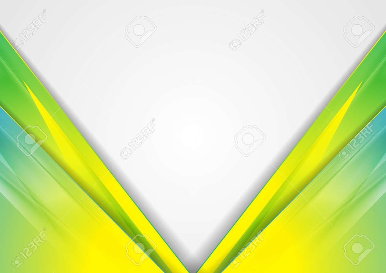 Colorful glossy corporate abstract geometric - 169500859