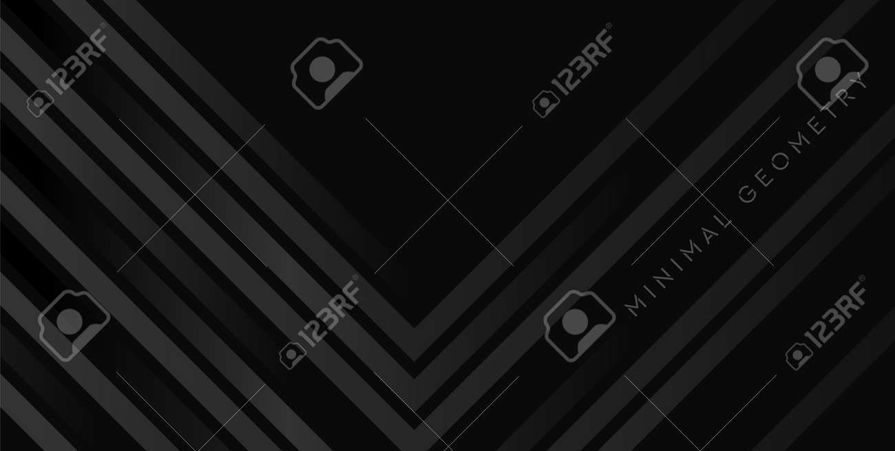 Black stripes abstract technology geometric background. Vector design - 169500887