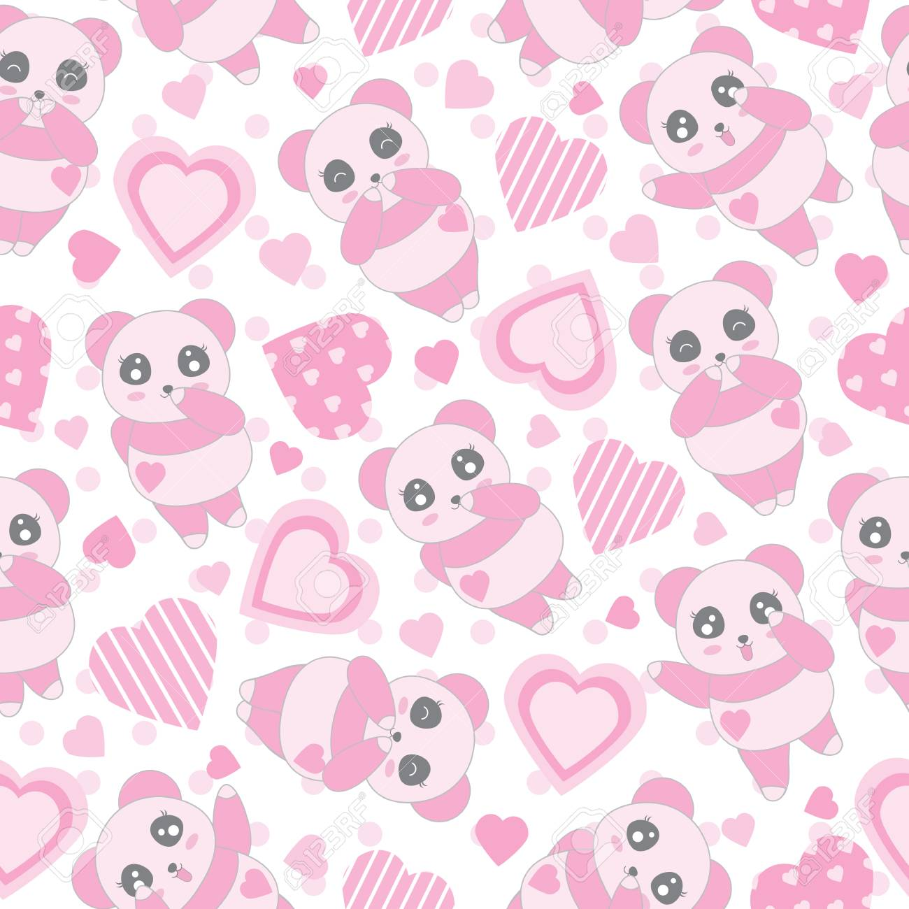 seamless background of valentine's day illustration with cute