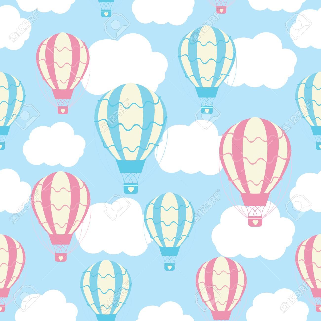 Desenho De Desenhos Animados De Padrao Transparente Bebe Com