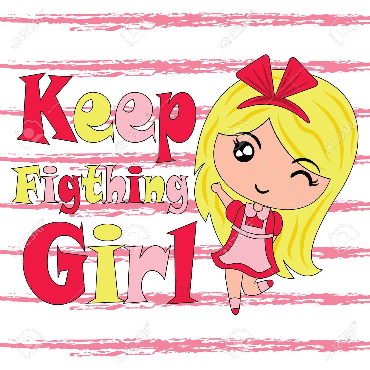 かわいい女の子の維持子供 T シャツのグラフィック デザインや壁紙に適し