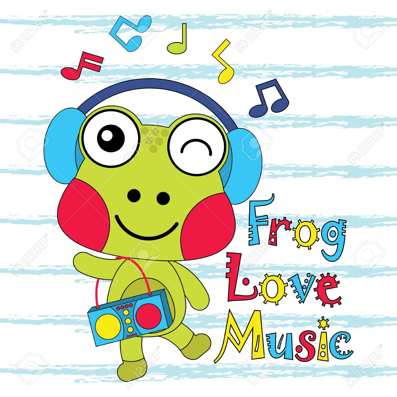 Best Wallpaper Music Kid - 84339817-vector-cartoon-illustration-of-cute-frog-loves-music-suitable-for-kid-t-shirt-graphic-design-backdro  Pic_725783.jpg
