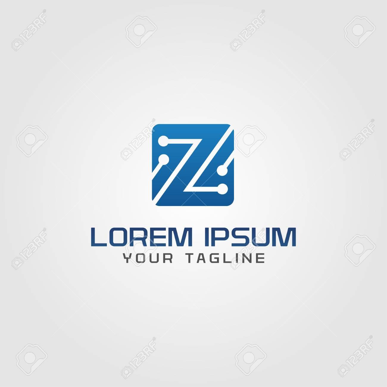 Circuito Z : La tecnología creativa de la tecnología logotipo electrónico diseño