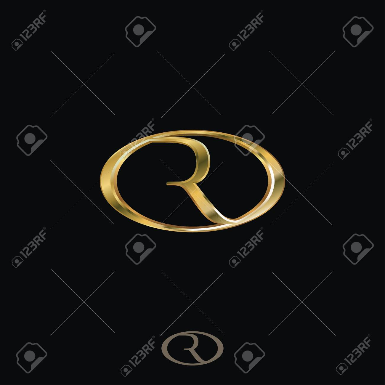 Creative Luxury Letter R Logo concept design templates - 75896326