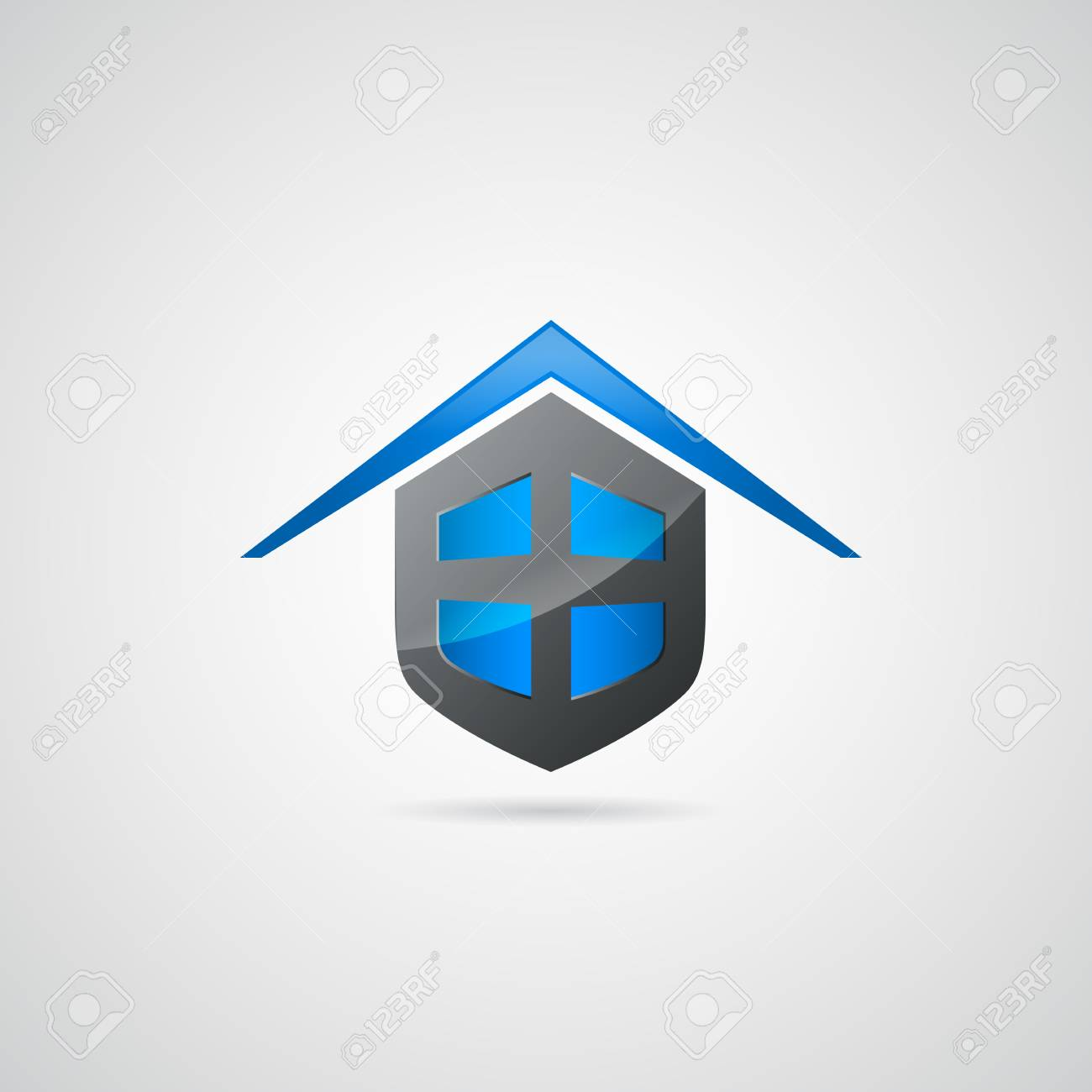 home shield symbol logo royalty free cliparts vectors and stock