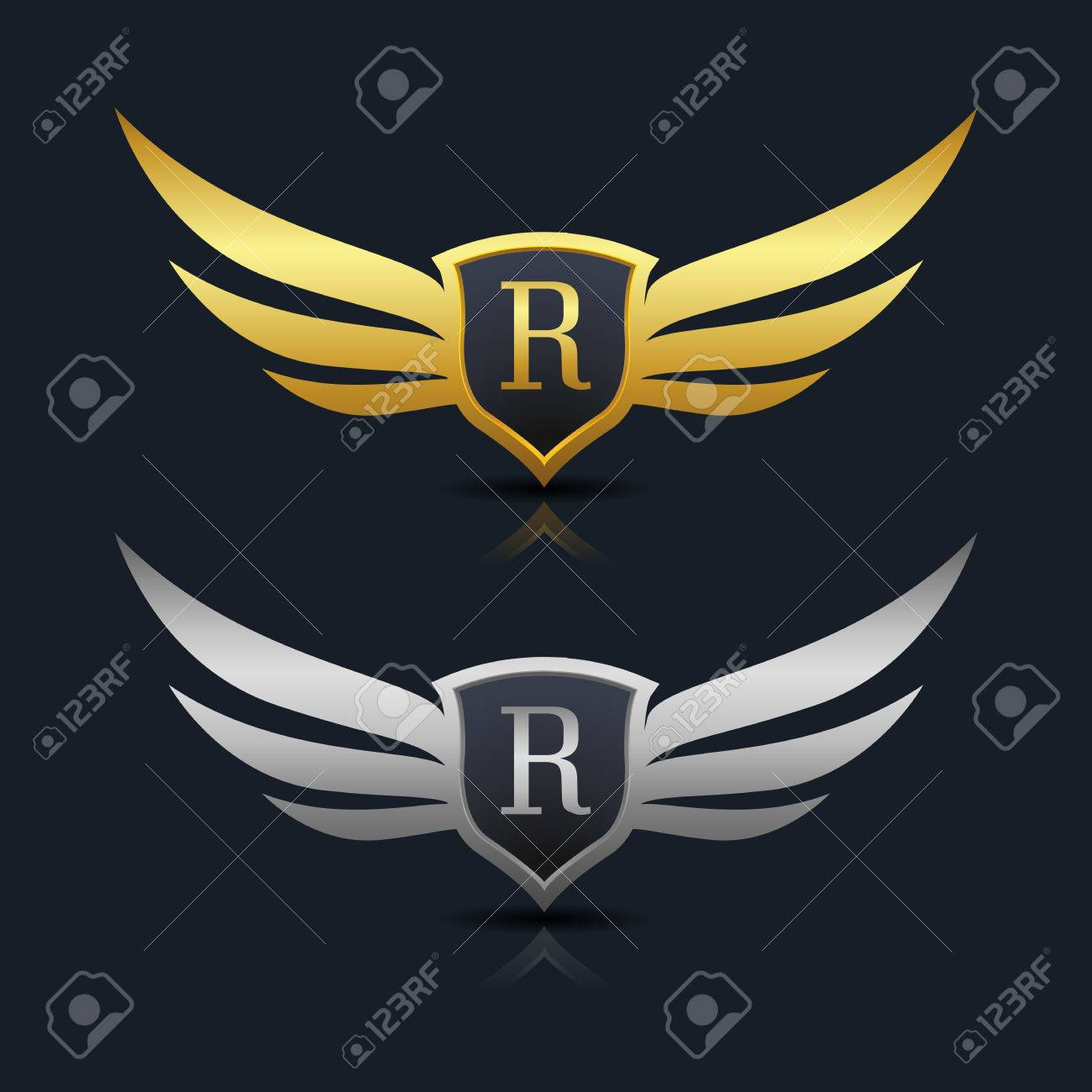 Wings shield letter r logo template royalty free cliparts vectors wings shield letter r logo template stock vector 77064110 biocorpaavc Choice Image