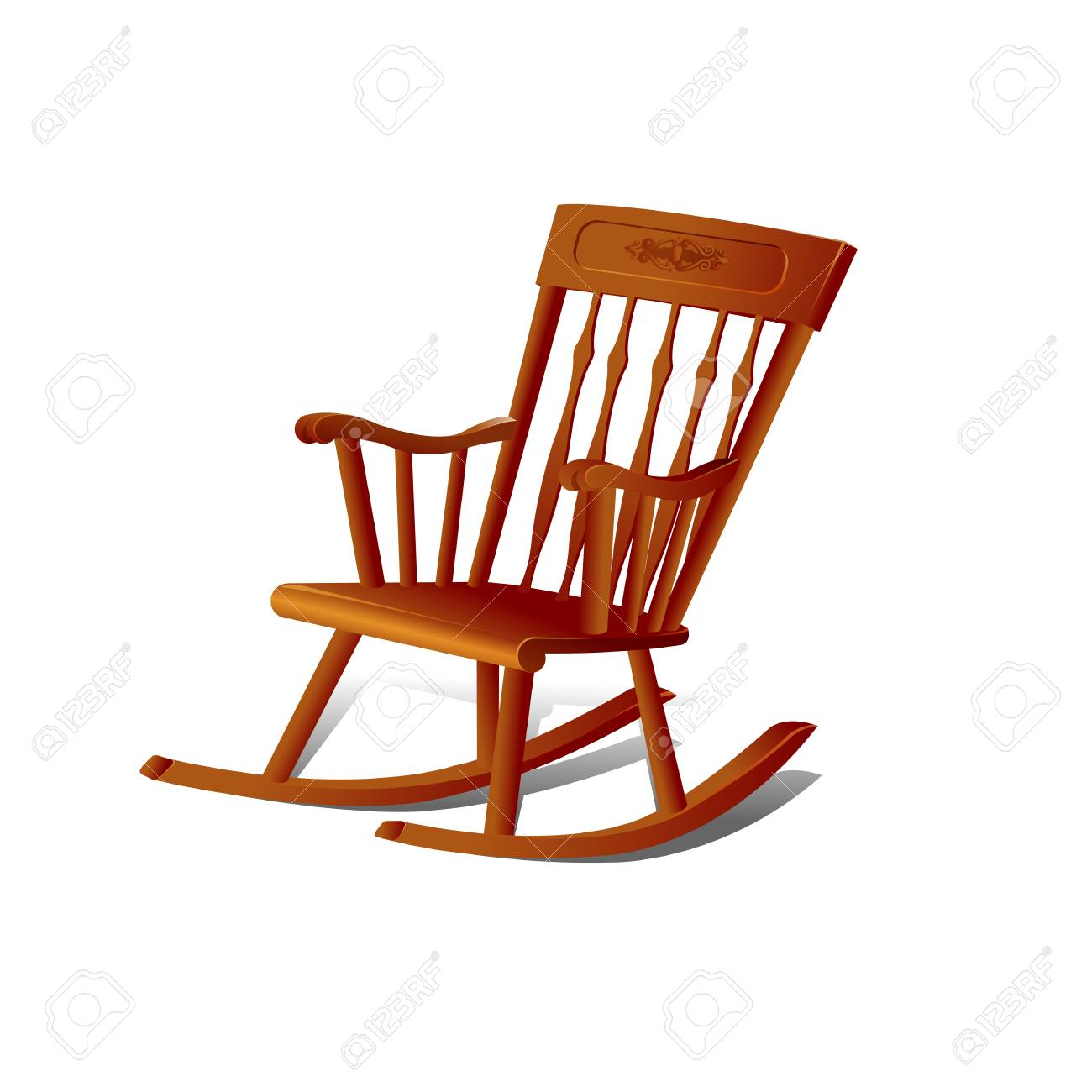 Illustration of a Rocking Chair. Isolated on White Background - 77612651