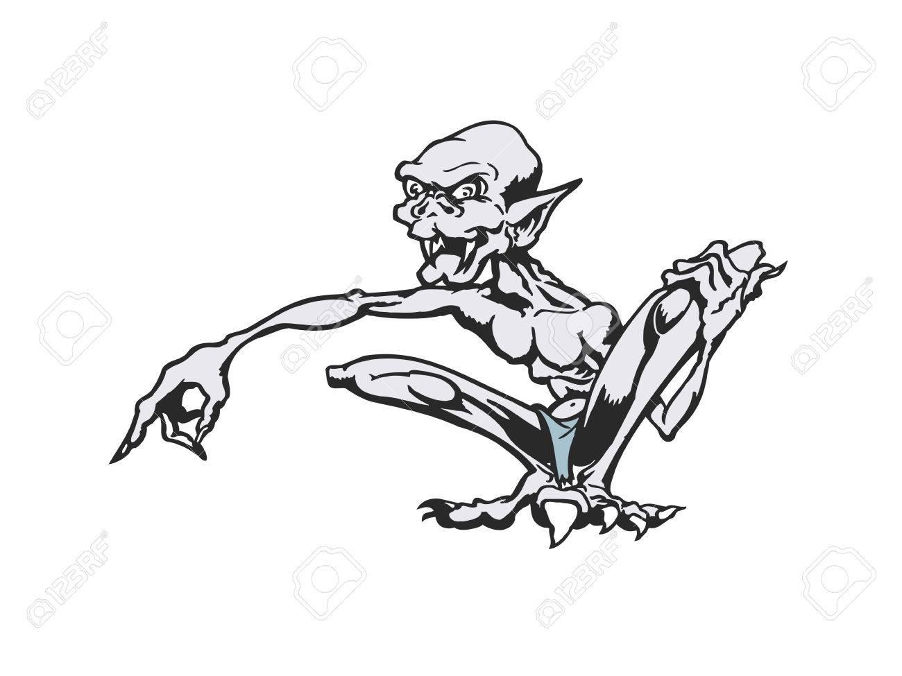 monstruos de dibujos animados flacos personaje de dibujos animados