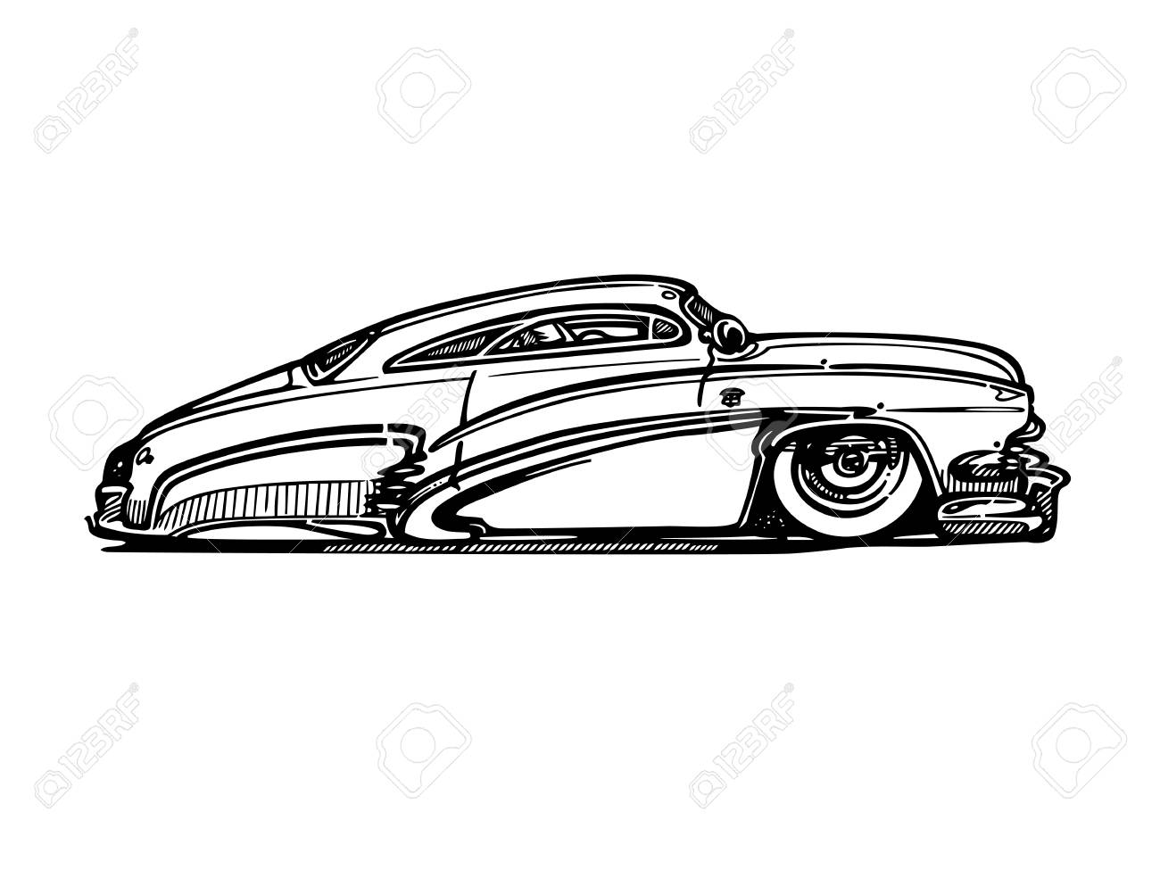 Vector Retro Hotrod Car Clipart Cartoon Illustration Royalty Free Cliparts Vectors And Stock Illustration Image 81062635