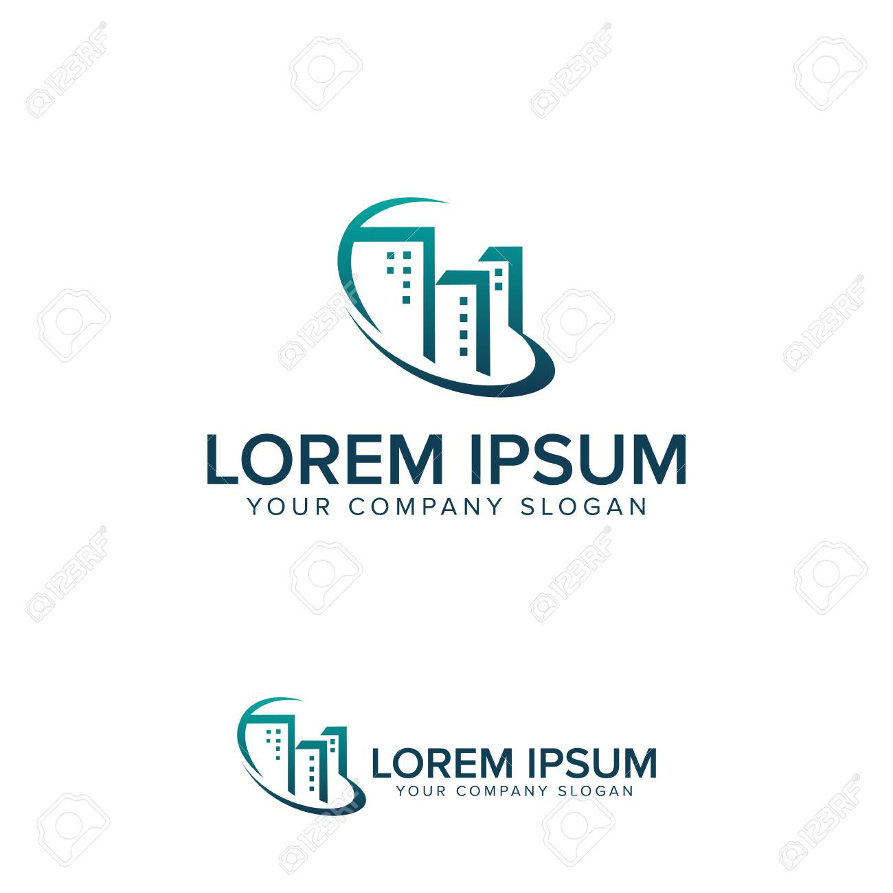 building logo design concept template royalty free cliparts vectors