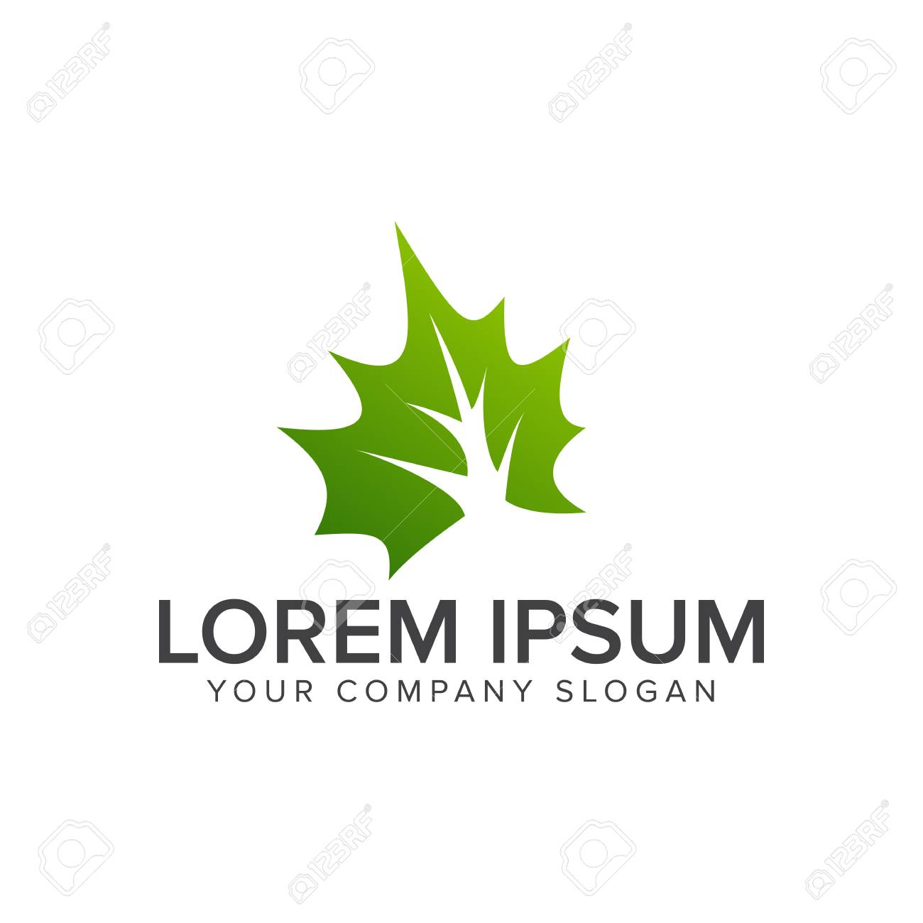 Leaf Green Logo Environmental And Landscaping Garden Logo Design Royalty Free Cliparts Vectors And Stock Illustration Image 82863534