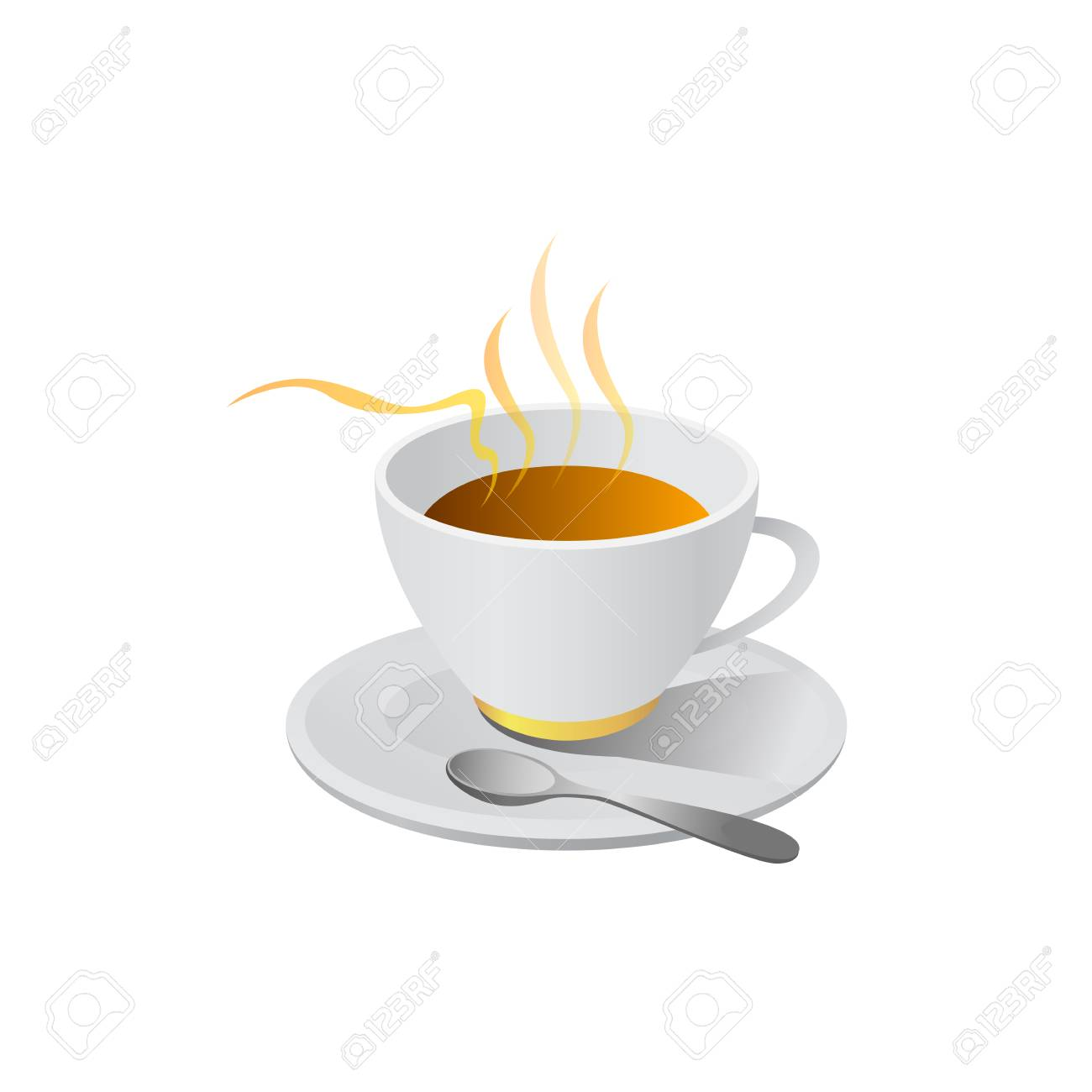hot coffe illustration vector isolated on white background - 82887751