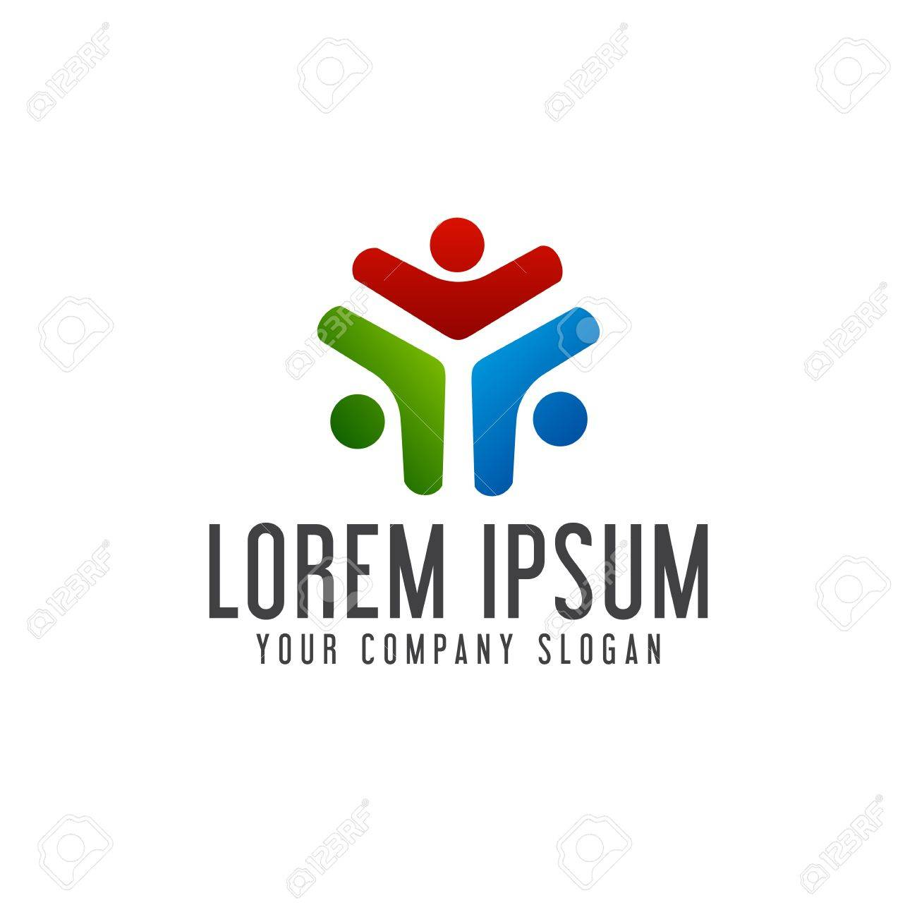 Business And Consulting People Logos. Teamwork Logo Design Concept ...