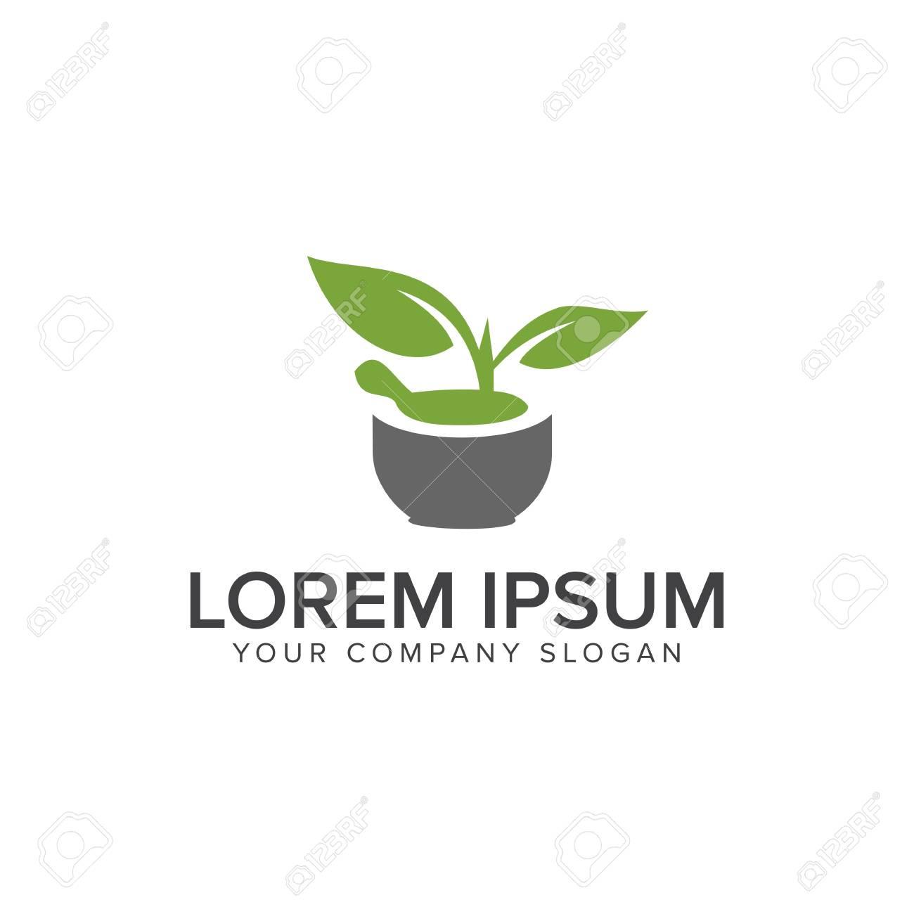 nature green medical logo pharmacy design concept template royalty
