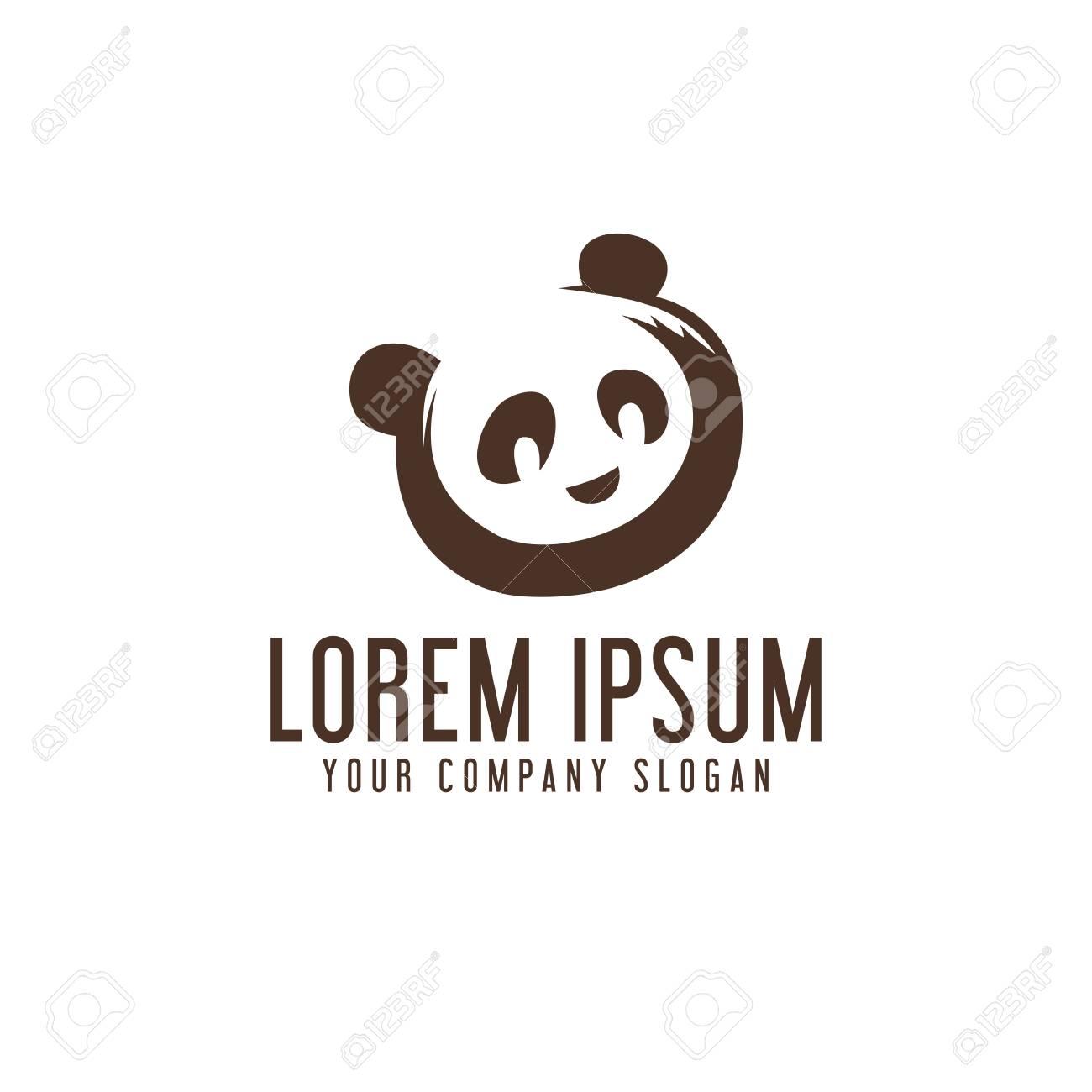 panda logo design concept template - 82888380