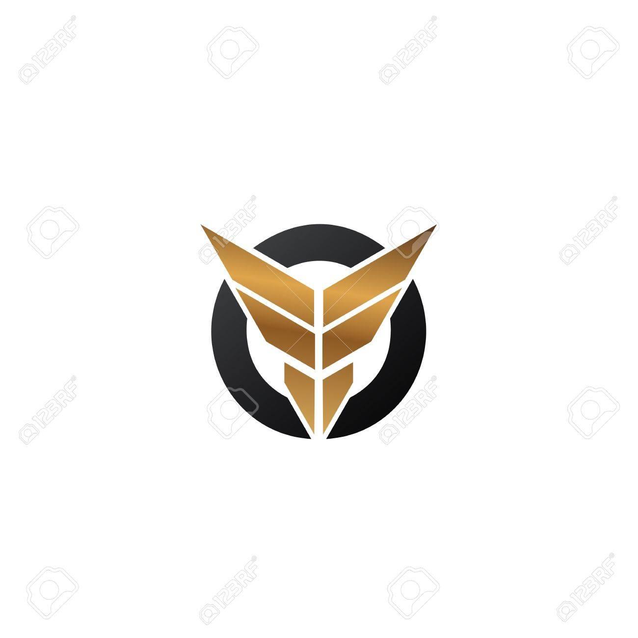 ee2db10068911 Foto de archivo - Letra F alas logo. plantilla de concepto de diseño de  logotipo de seguridad