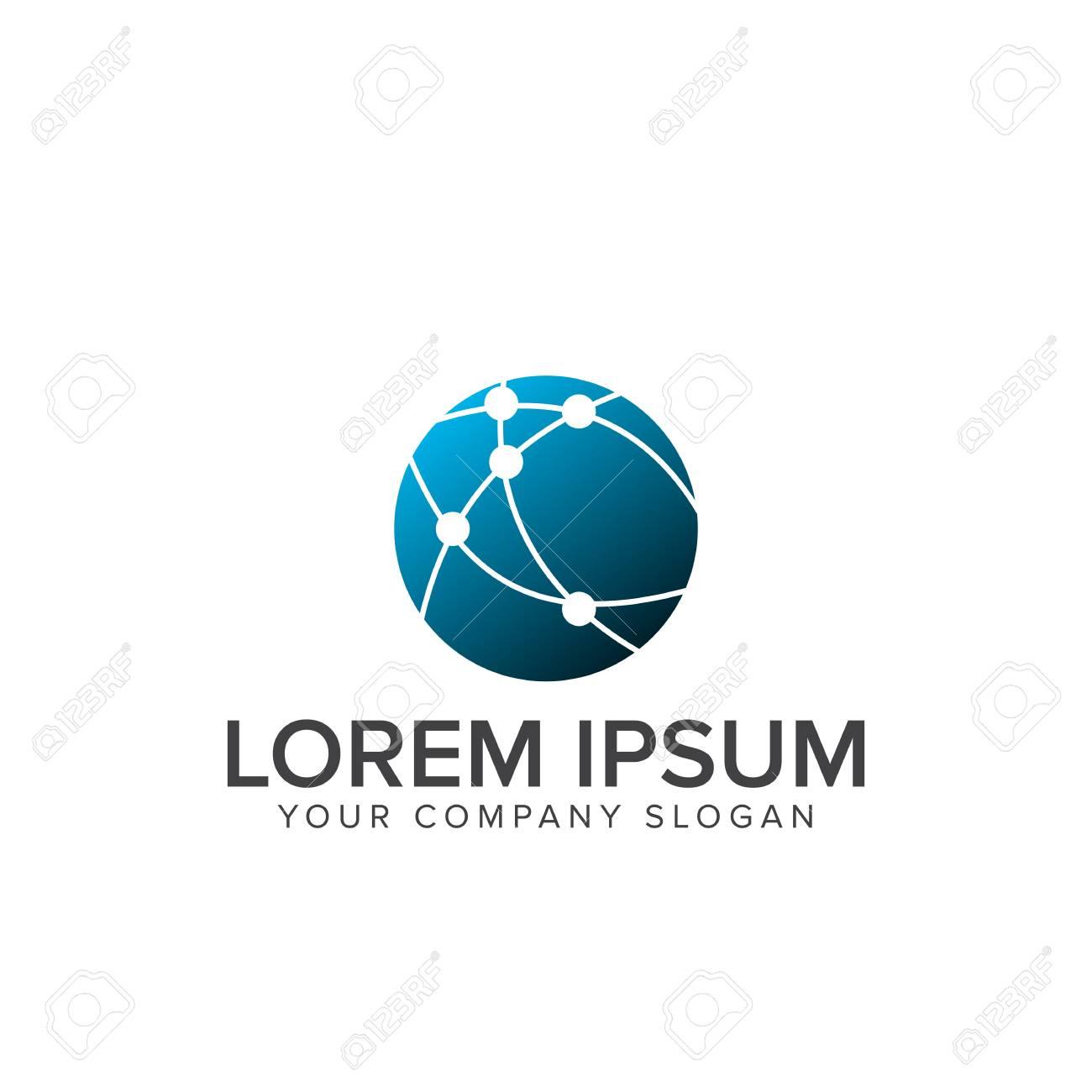 Logo De Réseau Modèle De Concept De Conception De Logo Informatique De Linformatique Internet