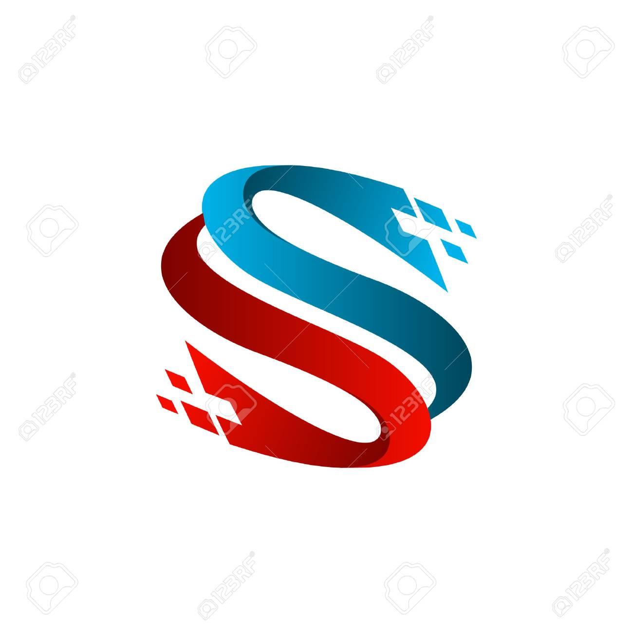 letter s technology logo design concept template - 83305418