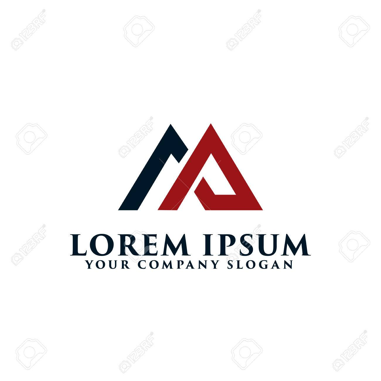 letter am logo real estate logo design concept template stock vector 83305570