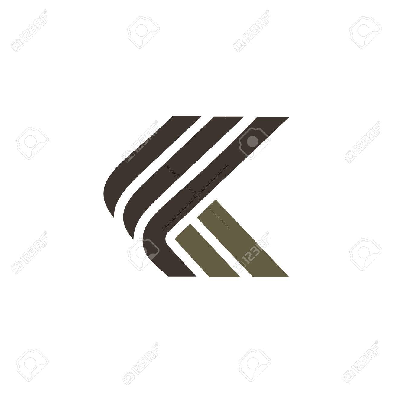 letter k luxury logo design concept template royalty free cliparts