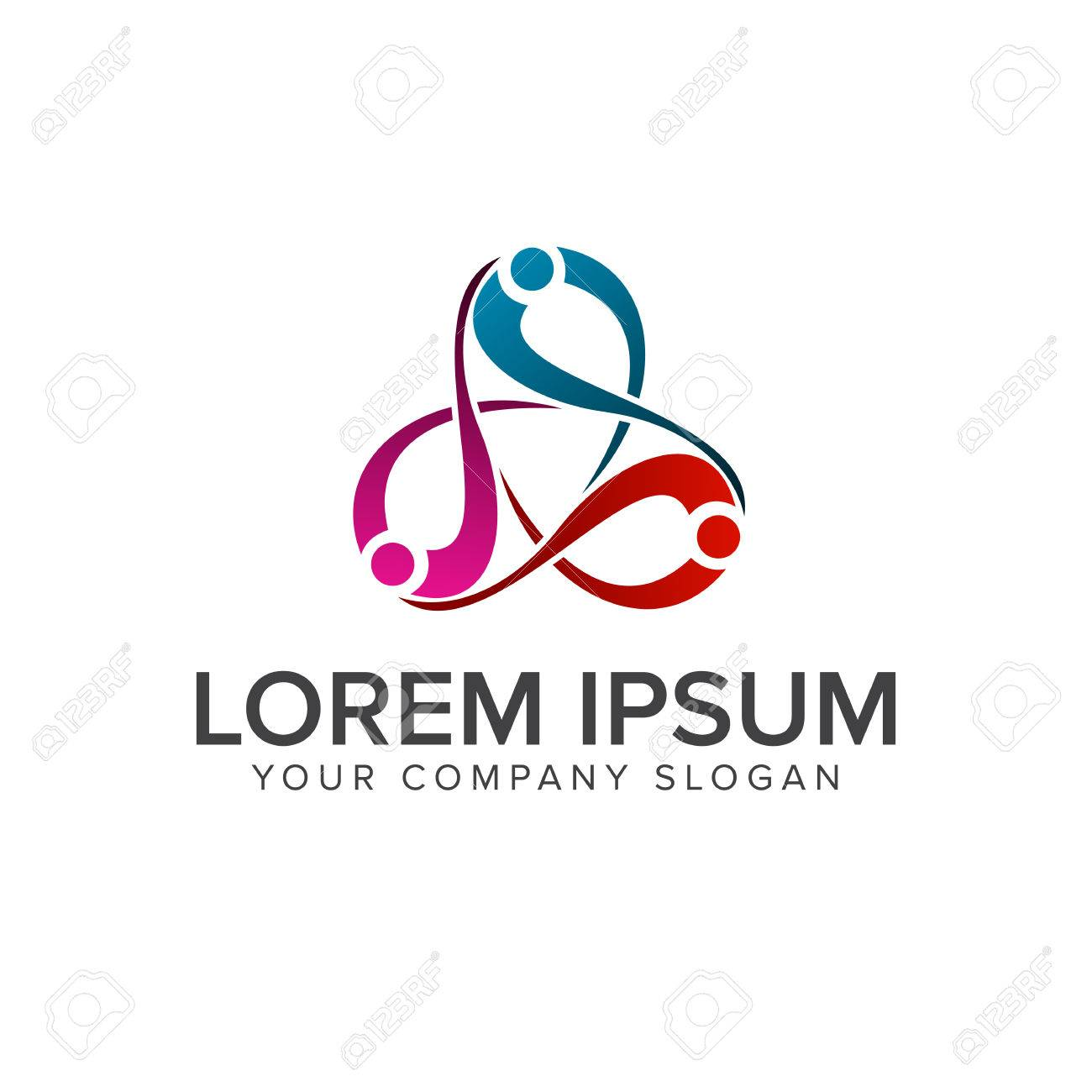 People business and consulting logo teamwork communication group people business and consulting logo teamwork communication group logo design concept template stock vector cheaphphosting Image collections