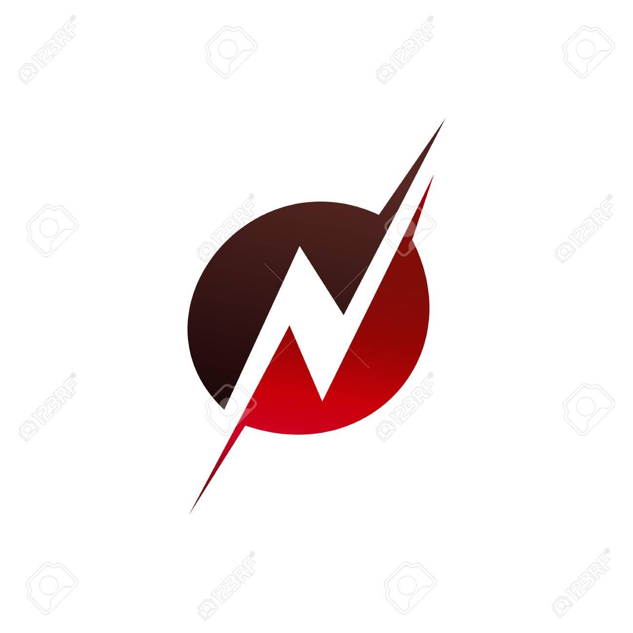 Letter N Logo Design Concept Template Royalty Free Cliparts Vectors