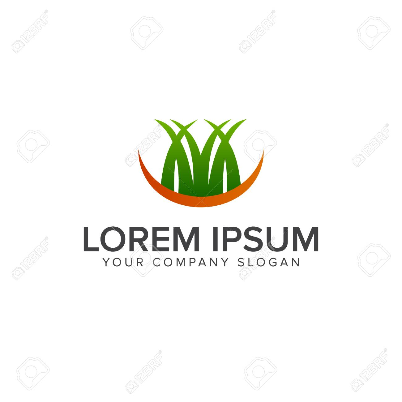 Logo De La Hierba. Paisajismo Jardín Logo Diseño Concepto Plantilla ...