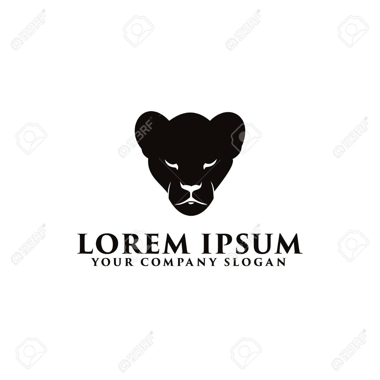 black panther logo design concept template royalty free cliparts