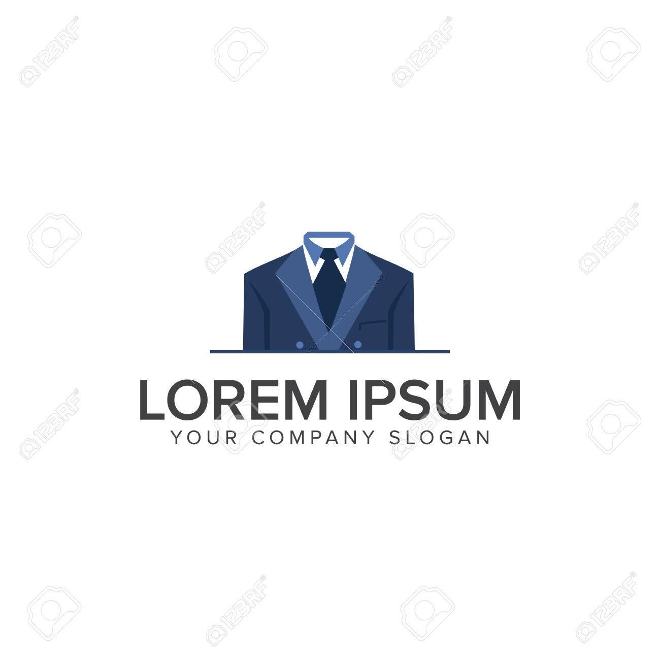 Geschäftsmann Kleidung Logo Design Konzept Vorlage Lizenzfrei ...