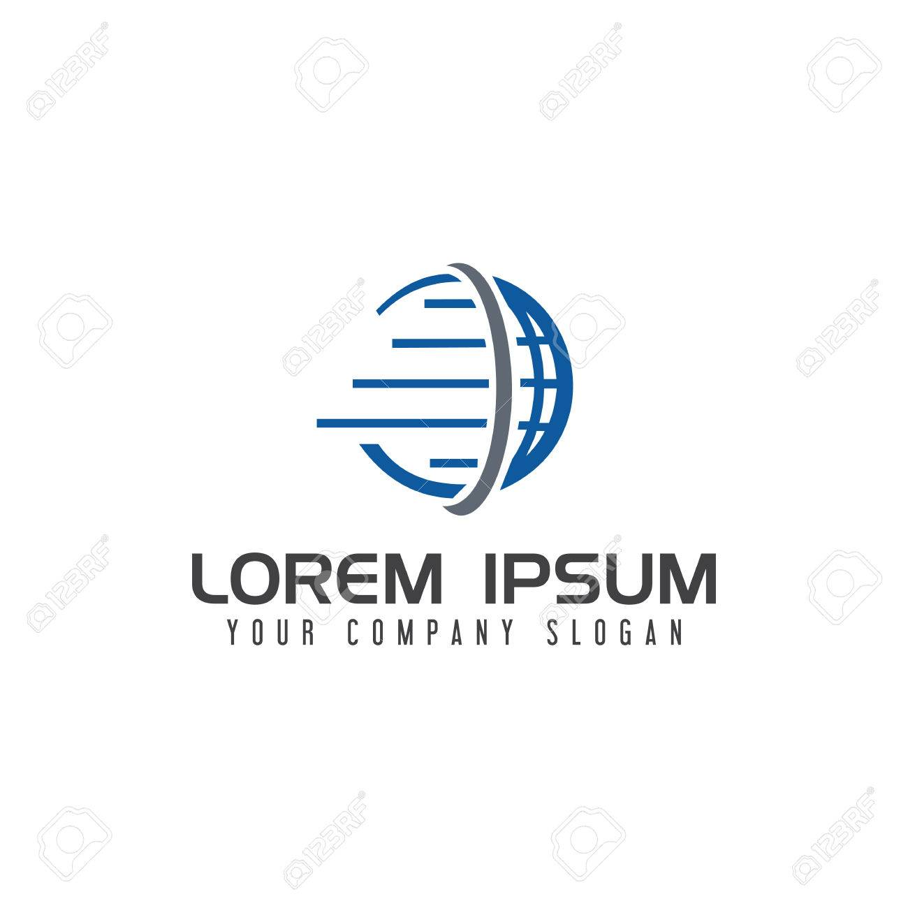 Globe Logistic Logo design concept template - 83615430
