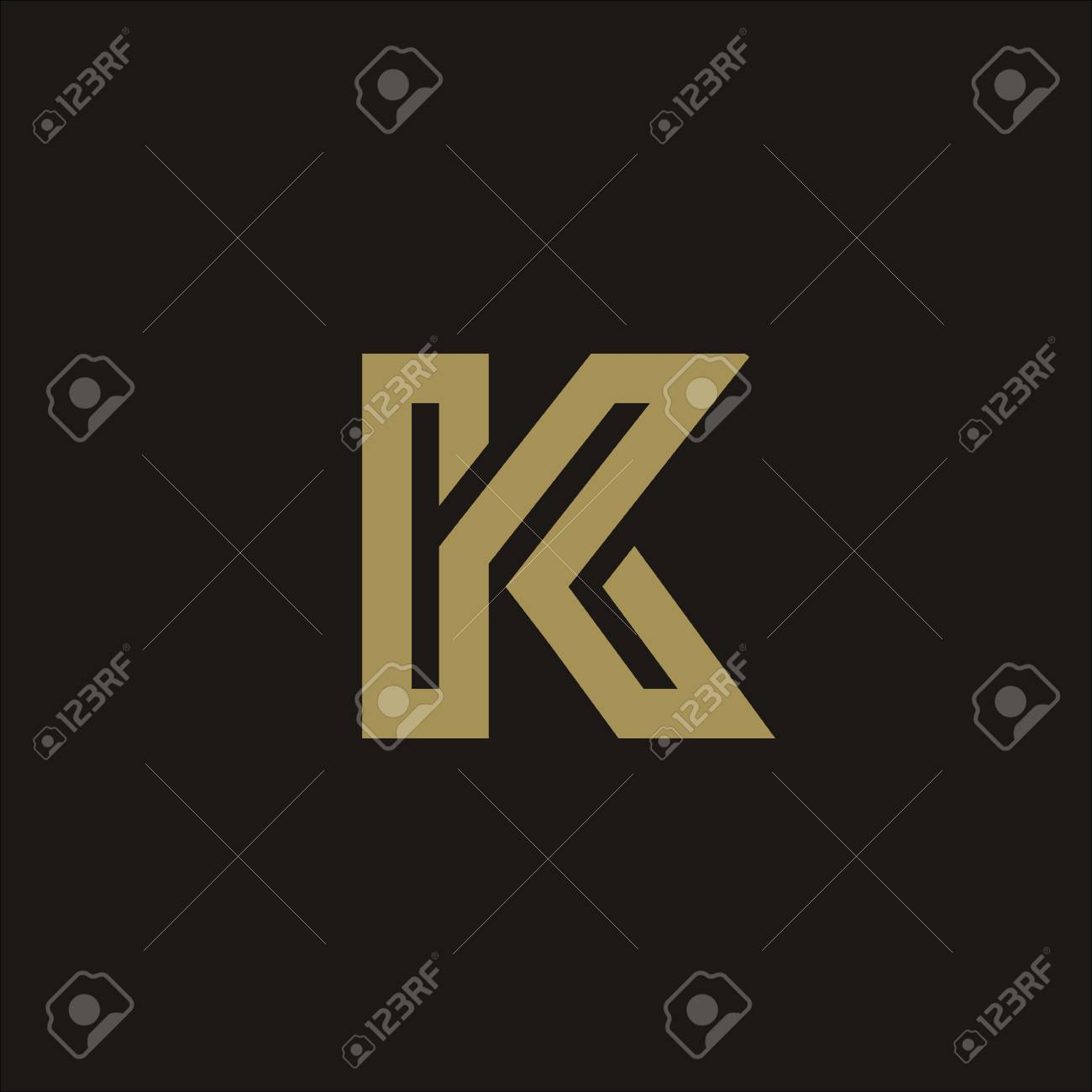 Luxury Letter K Logo Design Concept Template