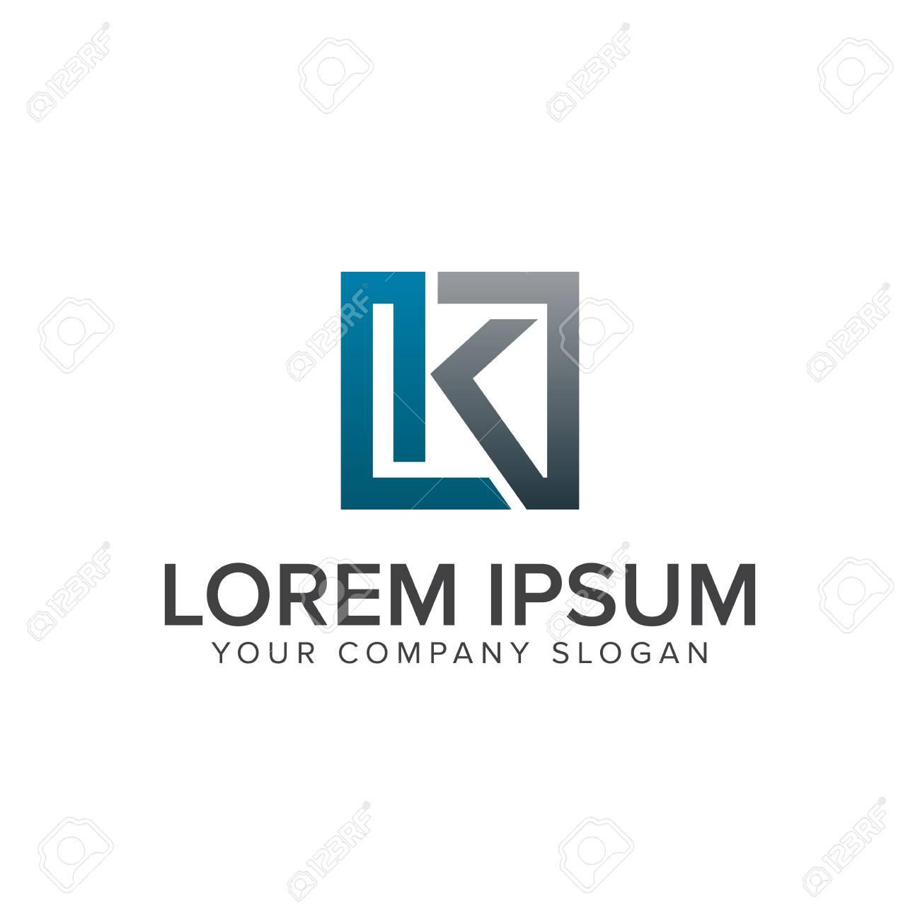 letter k logo design concept template stock vector 84733562